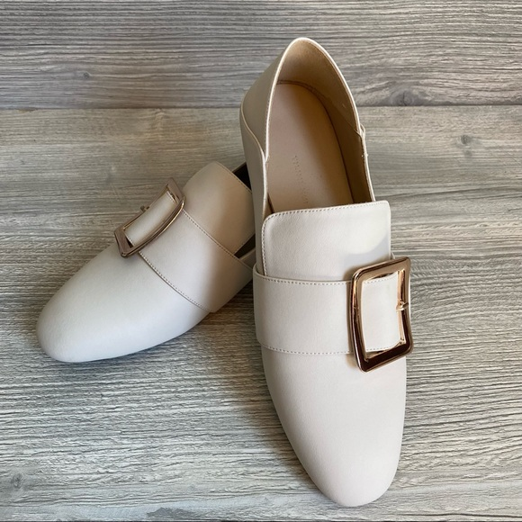 Woman's loafers cream Inspired by Bally Janelle